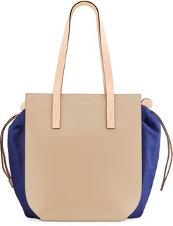 Gusset Leather Tote Bag