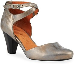 Raven Metallic Leather Comfort Pumps