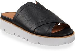 Lavern X-Band Leather Slide Sandals