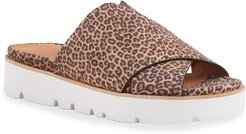 Lavern X-Band Leopard Slide Sandals