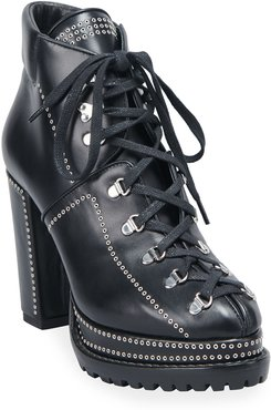 80mm Lug-Sole Lace-Up Booties
