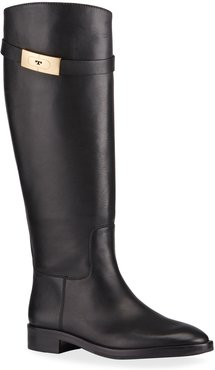 Tall Leather Riding Boots