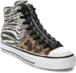 Grunt Animal-Print Zip High-Top Sneakers