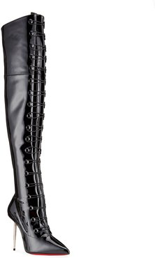 Epic et French Patent Lace-Up OTK Boots