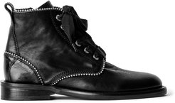 Laureen Roma Studded Leather Ankle Boots
