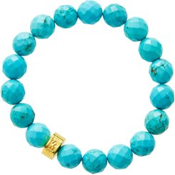 Faceted Turquoise Bead Stretch Bracelet