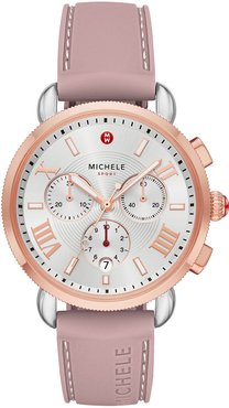 Sporty Sail Stainless Steel Watch in Pink