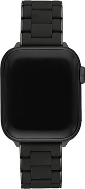 38/40mm Silicone-Wrapped Bracelet Band for Apple Watch, Black