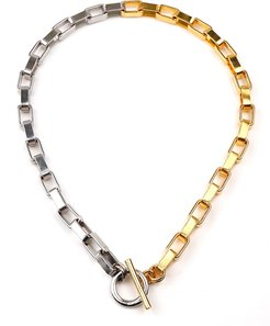"""Two-Tone Link Necklace, 16""""L"""