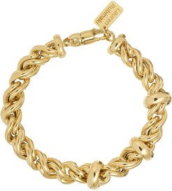 14k Medium Rope Chain and Ring Bracelet