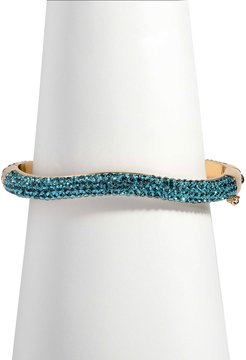 Pave Venus Bangle, Gold/Blue