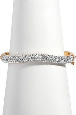 Pave Venus Bangle, Gold/Clear