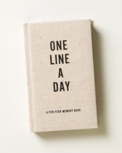 One Line a Day Canvas Five Year Memory Book