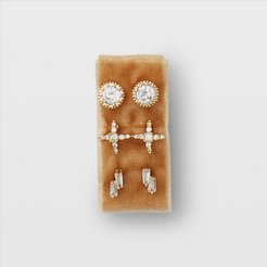 Crystal Serefina Sparkle Stud Set in Size One Size