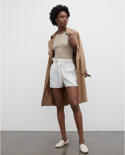 Khaki Tan/White Belted Pull-On Shorts in Size 4