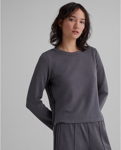 Moleskin Sporty Striped Sweatshirt in Size S
