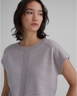 Taupe Doublefaced Wool Sweater in Size M