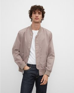 Tan Bomber Jacket in Size S