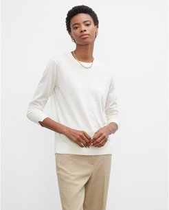 Ivory Essential Crewneck Sweater in Size XS