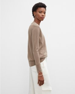 Neutral Essential Crewneck Sweater in Size S