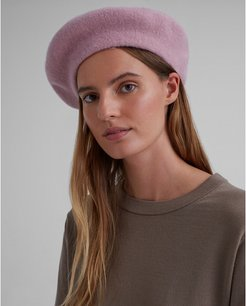 Mauve Hat Attack Beret in Size One Size