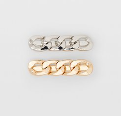 Gold Multi Metal Link Clip Set in Size One Size