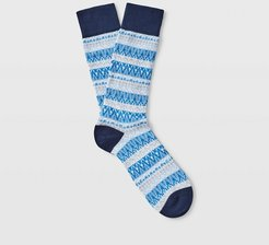 Blue Print Icicle Socks in Size One Size
