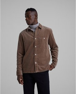 Cappuccino Corduroy Workshirt in Size L