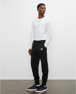Black Crest Sweatpants in Size S
