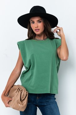Call Me Later Padded Shoulder T-shirt