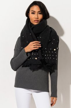 Hella Good Scarf With Pearl Embellishment