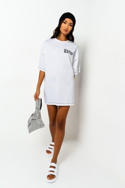 Idfwu Short Sleeve T-shirt Mini Dress
