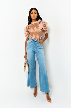 Walk In The Park Long Sleeve Mesh Blouse