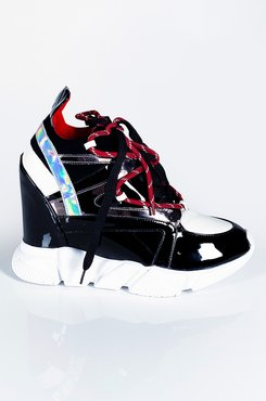 AKIRA Wrap It Up Wedge Sneaker