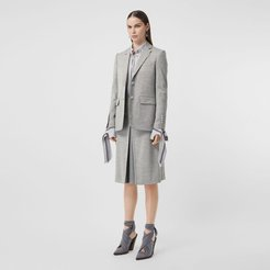 Technical Wool Jersey Blazer, Size: 02, Grey