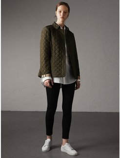 Diamond Quilted Jacket, Size: XXL, Green