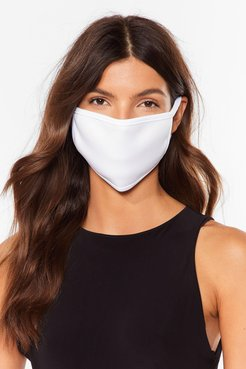 Not Just a Pretty Fashion Face Mask - White