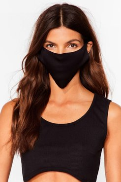 No Strings Attached 2-Pc Fashion Face Masks - Black