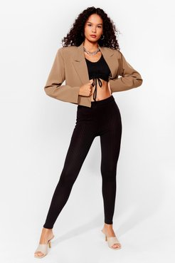 Meant to Be Together Ruched Top and Leggings Set - Black