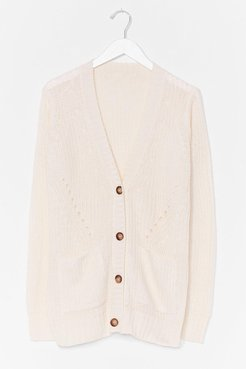 Good Mornin' Knit Longline Cardigan - Cream