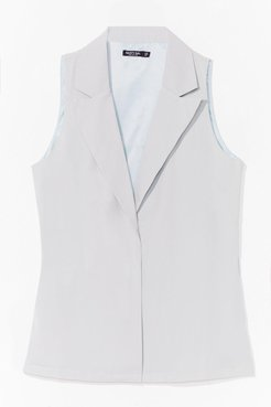 Work Hard Relaxed Tailored Vest - Mint