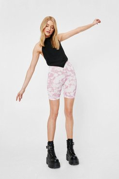 And What Do You See Tie Dye Shorts - Pink