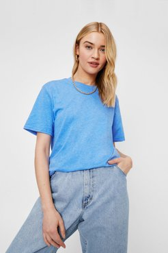 Face the Facts Relaxed Tee - Washed Blue