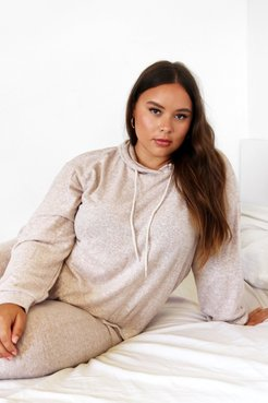 What's the Chill Plus Hoodie Lounge Set - Oatmeal