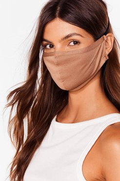 All Mouth Fashion Face Mask - Camel