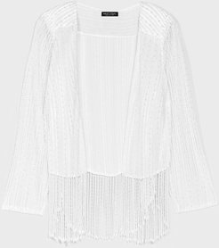 Here Come the Pearls Plus Beaded Jacket - Cream