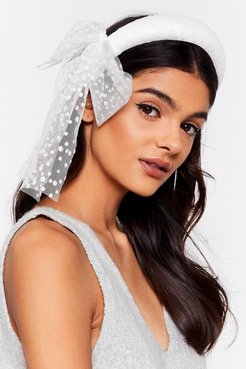 Get to Bow Me Organza Padded Headband - White