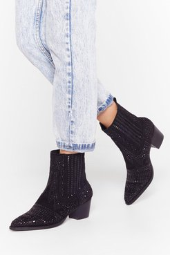 Embellish the Moment Faux Suede Western Boots