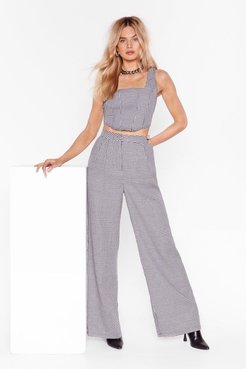s Grey High-Waisted and Wide Leg Pants