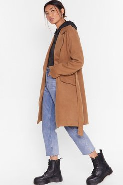 s Grab Your Faux Wool Coat - Camel
